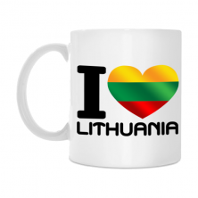 "Puodelis ""I love Lithuania"""