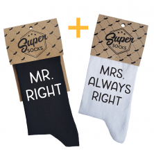 "Kojinių komplektas porai ""Mr. Right & Mrs. Always Right"""