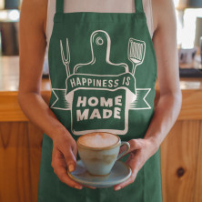 "Medvilninė prijuostė ""Happiness is home made"""