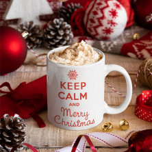"Puodelis ""Keep calm Merry Christmas"""