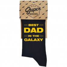 "Kojinės ""Best dad in the galaxy"""