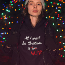 """Džemperis """"All I want for christmas is WINE"""""""