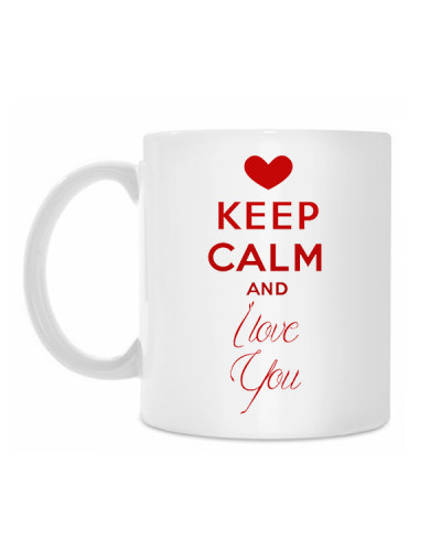 "Puodelis ""KEEP Calm and I love You"""